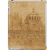 Vintage drawing of cathedral iPad Case/Skin