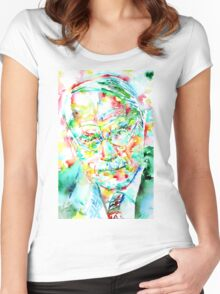 JUNG - watercolor portrait.2 Women's Fitted Scoop T-Shirt