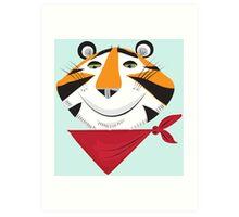 Vintage Tiger Art Print