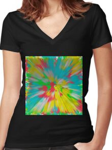 Abstract 109 Women's Fitted V-Neck T-Shirt