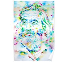 WALT WHITMAN / watercolor portrait Poster