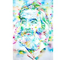 WALT WHITMAN / watercolor portrait Photographic Print