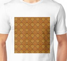Intricate Gold Wire Weave Pattern Unisex T-Shirt