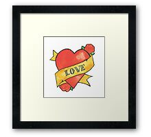 Retro 'Love' Tattoo Design Framed Print