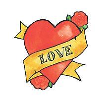 Retro 'Love' Tattoo Design Photographic Print