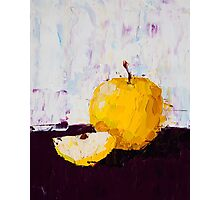 Shimmering Yellow Apple Photographic Print