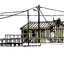 Figueira da Foz - Yellow Beach Bar by Paul  Nelson-Esch