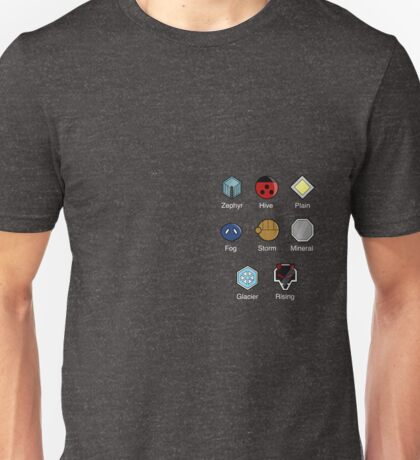 Pokemon - Johto League: Johto Region Badges Unisex T-Shirt