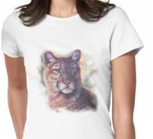 Animals- Cougar: Texas Lion Womens Fitted T-Shirt