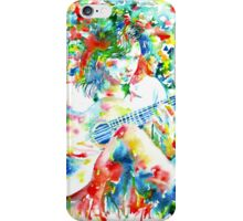 NICK DRAKE PLAYING the GUITAR - watercolor portrait iPhone Case/Skin