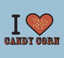 I Heart Candy Corn ( Black Text Clothing & Stickers ) Kids Tee