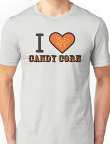 I Heart Candy Corn ( Black Text Clothing & Stickers ) Unisex T-Shirt