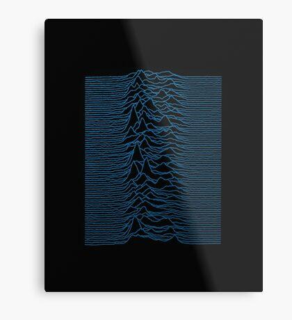 Unknown Pleasures #1 Blue Waves Metal Print