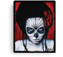 Widow - Day of The Dead Painting by Danny Silva Canvas Print
