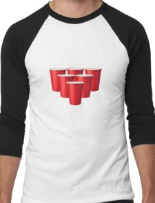 Beer Pong Men's Baseball ¾ T-Shirt