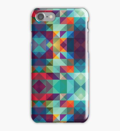 Blue Purple Modern Triangle iPhone Case/Skin