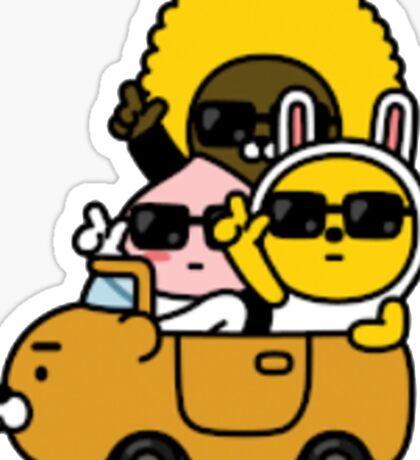 KakaoTalk Friends Hello! Ryan (카카오톡 라이언) - They See Us Rollin' Sticker
