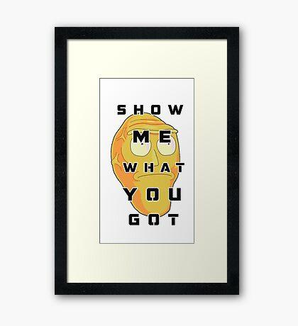 Show Me! Framed Print