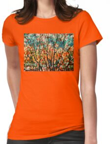 Snow In Autumn Womens Fitted T-Shirt