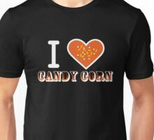 I Heart Candy Corn V2 ( Black Text Clothing ) Unisex T-Shirt