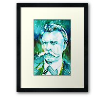 NIETZSCHE watercolor portrait.1 Framed Print