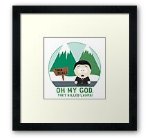 South Peaks Framed Print