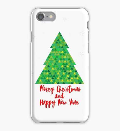 Geometric Christmas Tree iPhone Case/Skin