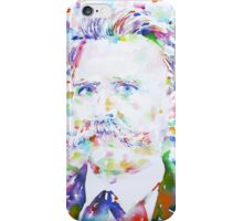 NIETZSCHE - watercolor portrait.2 iPhone Case/Skin