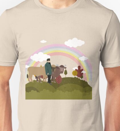 On the way to the village Unisex T-Shirt