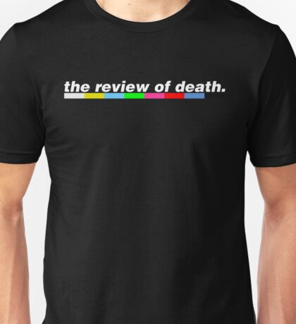 'The Review of Death' Testcard Logo Unisex T-Shirt