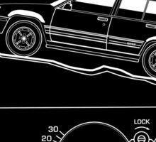 Toyota Tercel SR5 4WD Wagon AL25 BW Clinometer Sticker