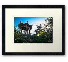 a small temple down town liverpool Framed Print