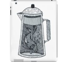 There was a fish in the coffeepot iPad Case/Skin