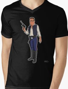 Hank Solo Mens V-Neck T-Shirt