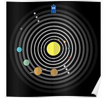 Circular Solar System Poster