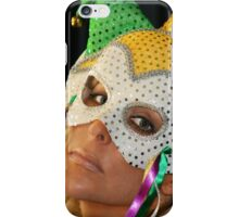 Blond Woman with Mask iPhone Case/Skin