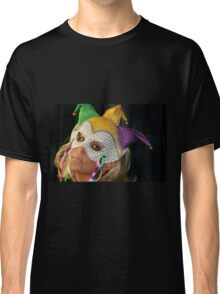 Blond Woman with Mask Classic T-Shirt