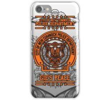 """NCPD """"Gie's Peace"""" Motto White/Orange iPhone Case/Skin"""