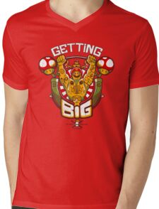 Getting Big Mens V-Neck T-Shirt