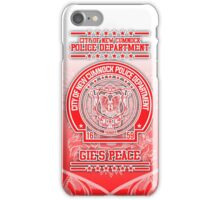 """NCPD """"Gie's Peace"""" Motto Red/White Glenafton iPhone Case/Skin"""
