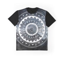 Gentle with my words blue and white hand drawn mandala Graphic T-Shirt