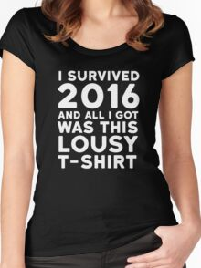 2016 Funny Ironic Sarcastic Humor New Year Quote 2 Women's Fitted Scoop T-Shirt