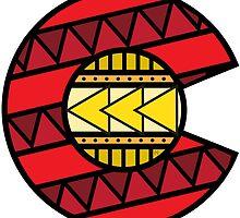 Colorado Tribal Flag: Red + Yellow by missmarneyg