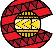 Colorado Tribal Flag: Red + Yellow by missmarneyg