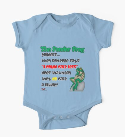 "Ponder Frog ""Care Less"" One Piece - Short Sleeve"