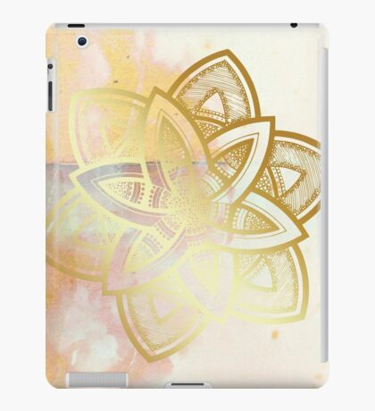 Centered and open pink and white hand drawn mandala iPad Case/Skin