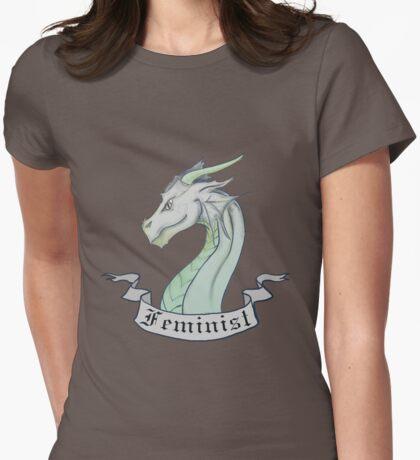 FEMINIST - Light Dragon Womens Fitted T-Shirt