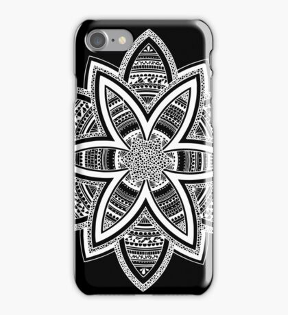 Wholness black and white mandala iPhone Case/Skin