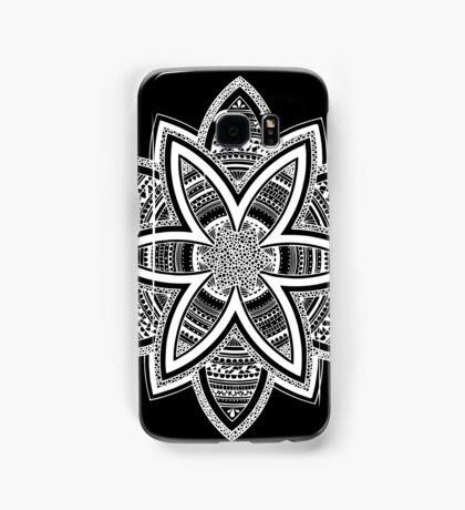 Wholness black and white mandala Samsung Galaxy Case/Skin