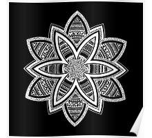 Wholness black and white mandala Poster